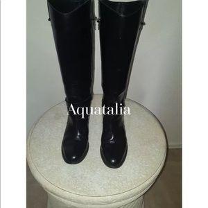 Aquatalia Opulence Black Boots Sz: 9